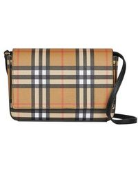 Burberry - Hampshire Vintage Check Crossbody Bag - Lyst