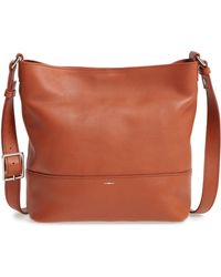 Shinola - Small Relaxed Leather Hobo Bag - Lyst