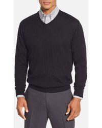 Cutter & Buck - 'douglas' Merino Wool Blend V-neck Sweater - Lyst