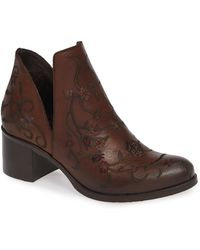 Ron White - Halsey Floral Embroidered Bootie - Lyst