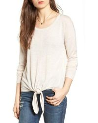 Madewell | Modern Tie Front Sweater | Lyst