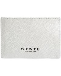 State Bags - Greenwood Monaco Leather Card Case - Metallic - Lyst