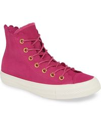 Converse - Chuck Taylor All Star Scallop High Top Suede Sneaker - Lyst 462321917
