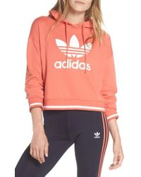 adidas - Active Icons Cropped Hoodie - Lyst
