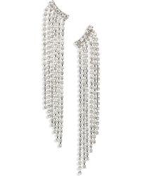 Cara - Crystal Drop Earrings - Lyst