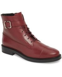 Tod's - Buckle Strap Combat Boot - Lyst