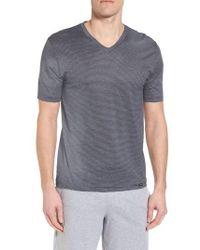 Hanro - Sporty Stripe Cotton V-neck T-shirt - Lyst