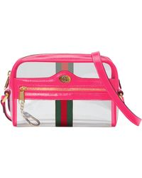 fd9761b7290528 Gucci - Ophidia Transparent Convertible Bag - - Lyst