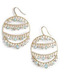 Melinda Maria - Fox Hoop Earrings - Lyst