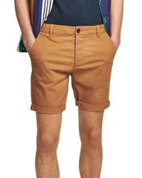 TOPMAN - Skinny Fit Chino Shorts - Lyst