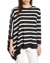 Anne Klein - Asymmetrical Striped Sweater - Lyst