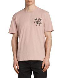 AllSaints - Barbed Palm Short Sleeve T-shirt - Lyst