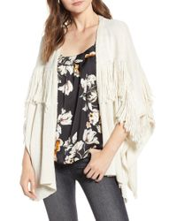 BISHOP AND YOUNG - Bishop + Young Fringe Open Front Cardigan - Lyst