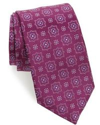 David Donahue | Medallion Silk Tie | Lyst