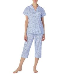 Eileen West - Jersey Capri Pajamas - Lyst