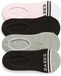 Sockart - Babes Club 4-pack No-show Socks, Pink - Lyst