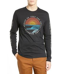 Hurley - Long Sleeve Graphic Tshirt - Lyst