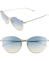 843437bb4b46 Oliver Peoples - Rayette 60mm Cat Eye Sunglasses - Soft Gold  Yellow Blue -  Lyst