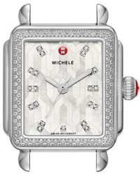 Michele - Deco Diamond Watch Head - Lyst