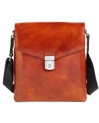 Bosca - 'man Bag' Leather Crossbody Bag - Lyst