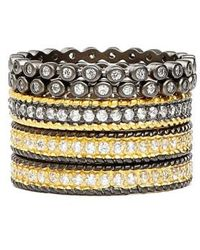Freida Rothman - 'the Standards' Stackable Rings (set Of 5) - Lyst