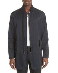 John Varvatos | John Varvatos Convertible Collar Mac Jacket | Lyst