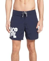 Lacoste - Graphic Swim Trunks - Lyst