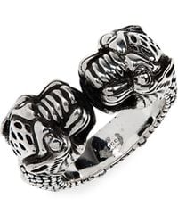 Gucci - Tiger Heads Ring - Lyst