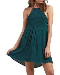Volcom - Haute Stone Mini Tank Dress - Lyst