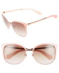 Kate Spade | 'genice' 57mm Cat-eye Sunglasses | Lyst