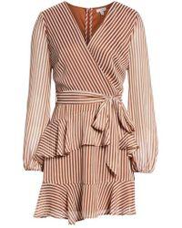 Love, Fire - Tiered Wrap Dress - Lyst