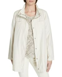 Eileen Fisher - Hooded Organic Cotton Blend Coat - Lyst