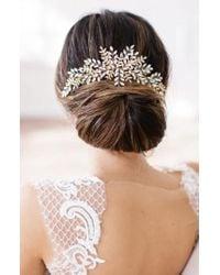 Brides & Hairpins - Serena Crystal Hair Comb - Lyst