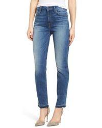 Jen7 - Release Hem Ankle Skinny Jeans - Lyst