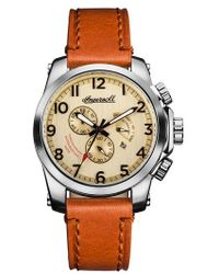 INGERSOLL WATCHES - Ingersoll Manning Chronograph Leather Strap Watch - Lyst