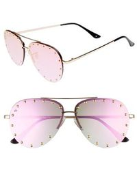 Privé Revaux - The Sixth Man 60mm Studded Aviator Sunglasses - Lyst