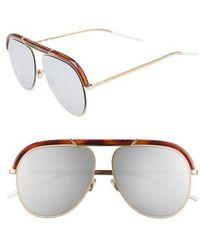 a86f5a9bb74 Dior - Christian Desertics 58mm Metal Aviator Sunglasses - Havana Gold -  Lyst