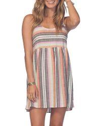 Rip Curl - Sayulita Stripe Dress - Lyst