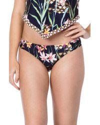 Trina Turk - Fiji Floral Shirred Side Hipster Bikini Bottoms - Lyst