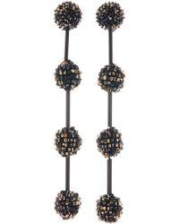 Oscar de la Renta - Beaded Drop Earrings - Lyst