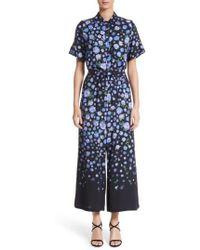 Lela Rose | Floral Print Wide Leg Jumpsuit | Lyst