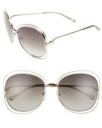 Chloé - Carlina 60mm Gradient Les Sunglasses - Lyst