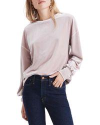 Madewell - Velvet Balloon Sleeve Sweatshirt - Lyst