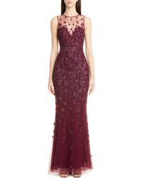 Zuhair Murad - Hibiscus Beaded Tulle Trumpet Gown - Lyst