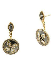 Freida Rothman   Fleur Bloom Drop Back Earrings   Lyst