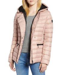 Bernardo - Sporty Hooded Puffer Jacket - Lyst