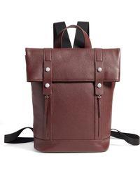 Treasure & Bond - Remy Pebbled Leather Backpack - Burgundy - Lyst