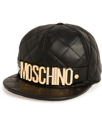 Moschino - Quilted Leather Baseball Cap - Lyst