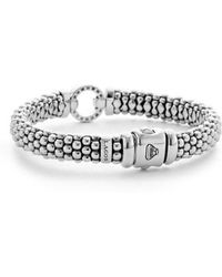 Lagos - 'enso - Circle Game' Diamond Caviar Rope Bracelet - Lyst