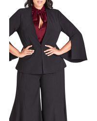 City Chic - Noveau Fancy Split Sleeve Jacket - Lyst
